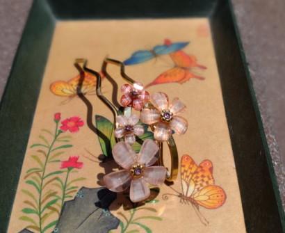 Shopping Kyoto Japan, hair pin accessory souvenir