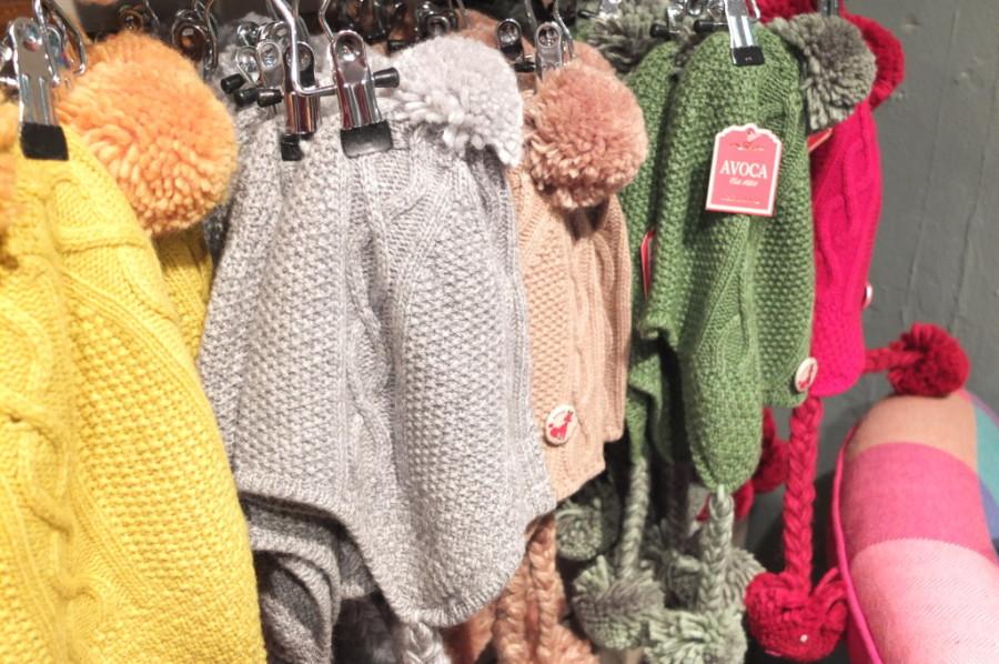 souvenir shopping Dublin Avoca pom pom hats