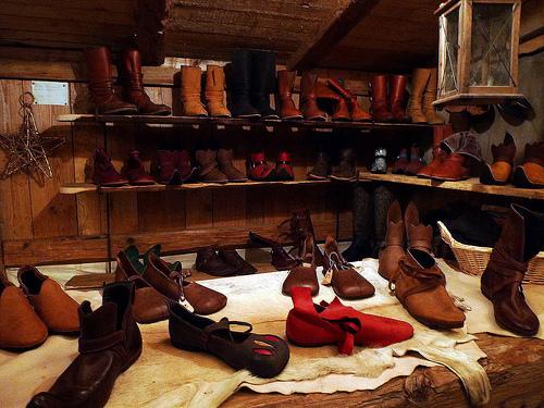 German Munich medieval Christmas Market crafts shoes