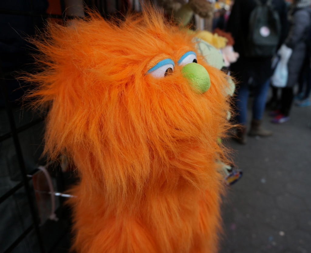 union square holiday market new york christmas shopping gift puppet