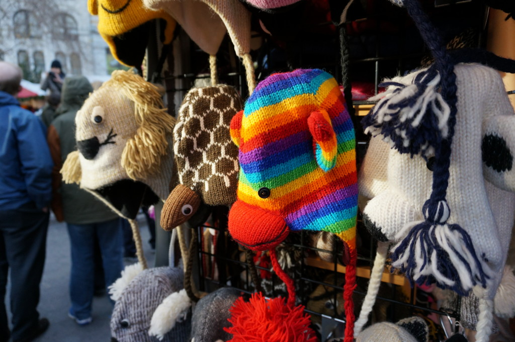 union square holiday market new york christmas shopping gift hat