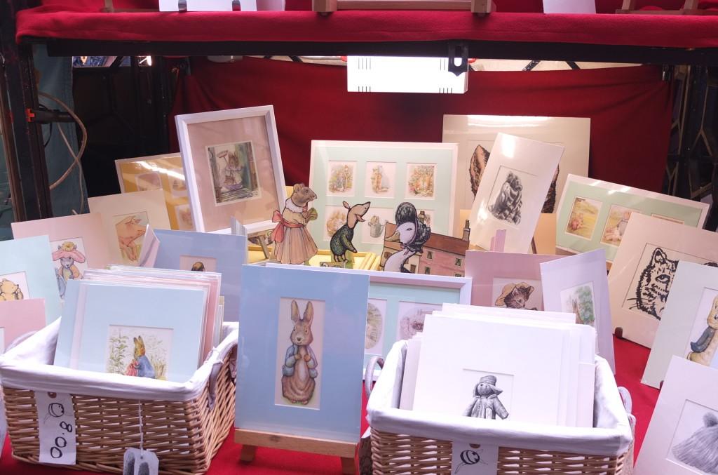 beatrix potter souvenirs london convent garden market stalls vendors