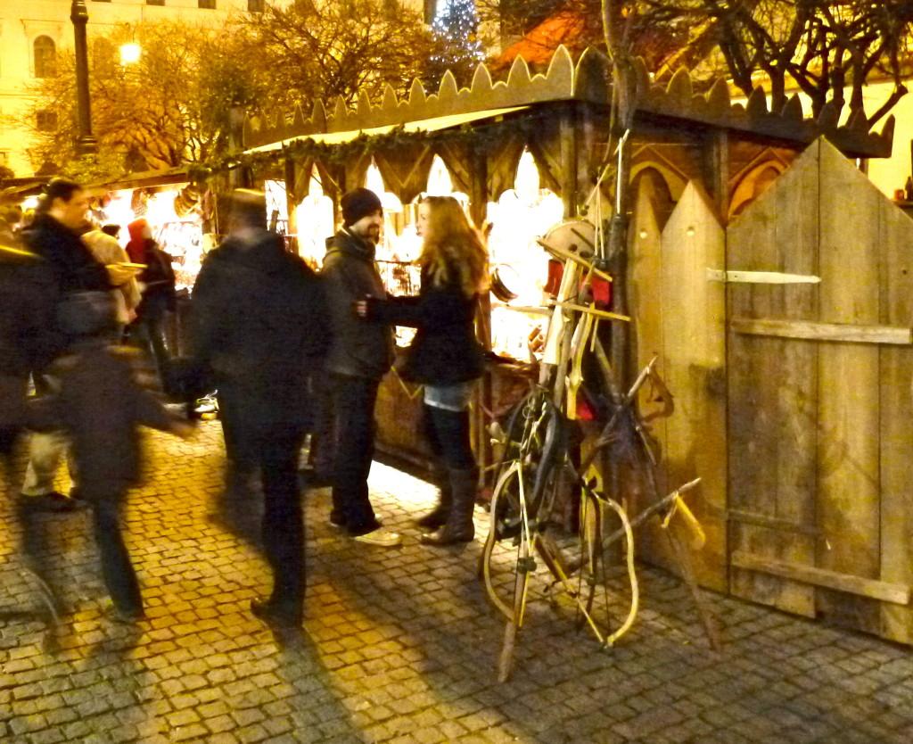 Munich medieval christmas market german medieva weapons bow arrow