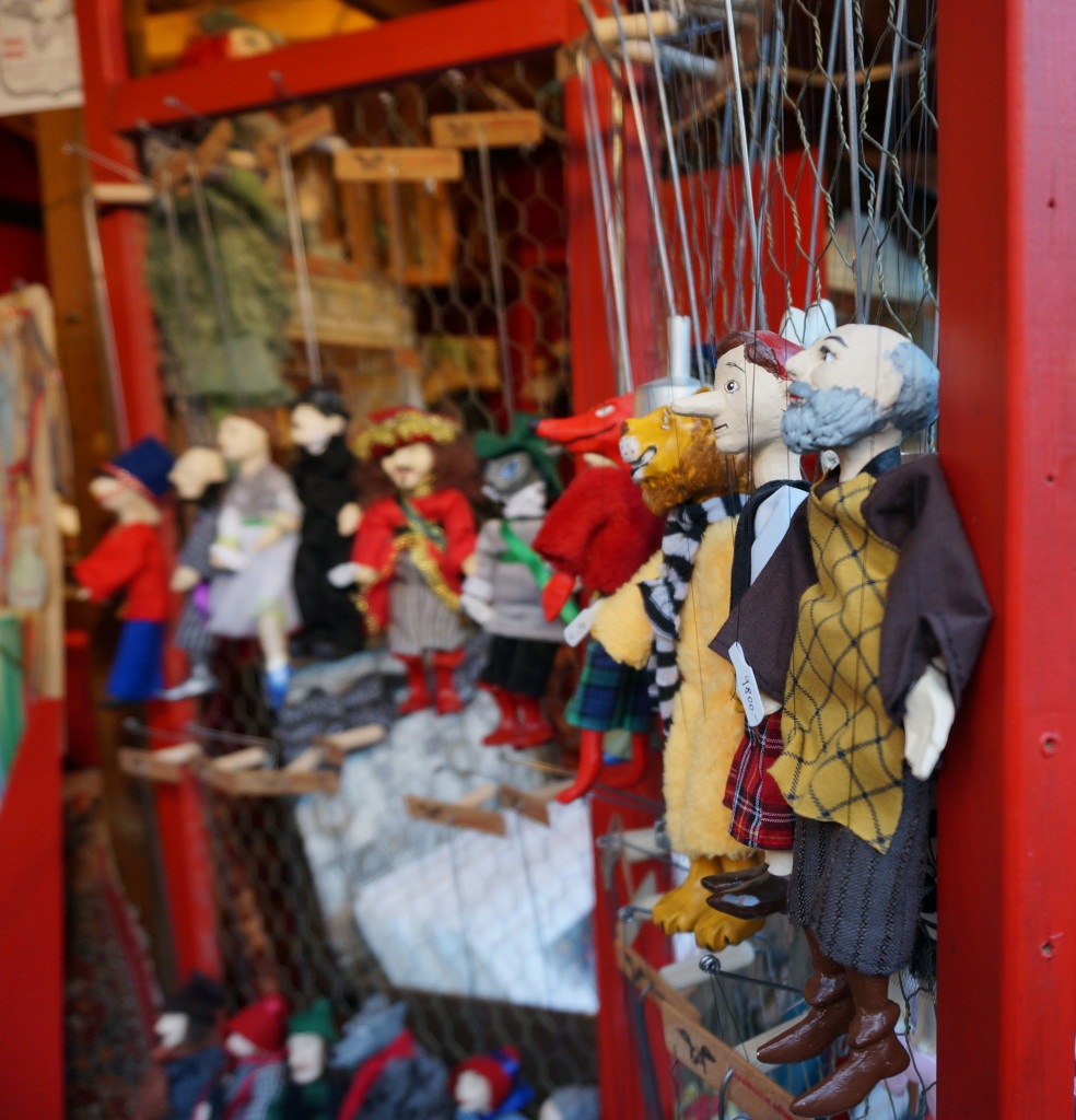 Puppets at the Budapest Christmas Market, photo courtesy of Souvenir Finder