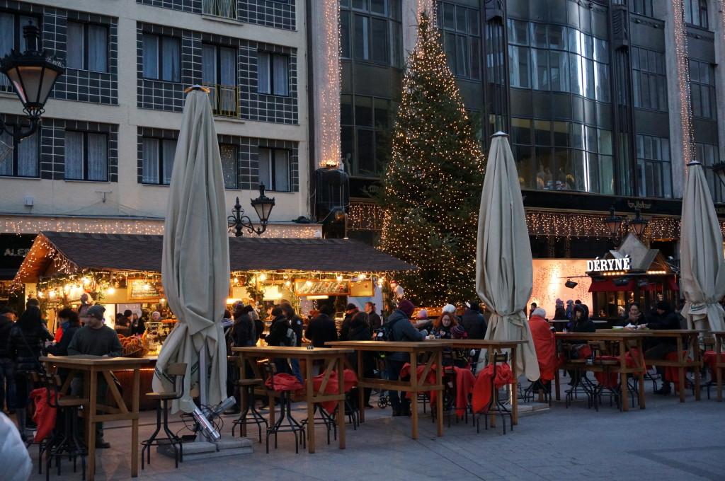 budapest christmas market fair hungarian restaurant