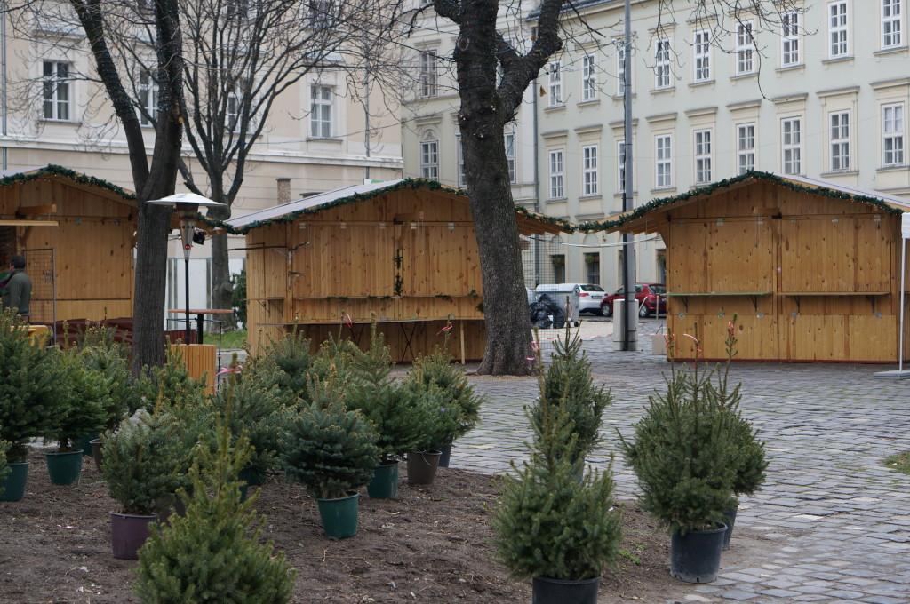 Buapest Christmas Market stalls Fair Hungary