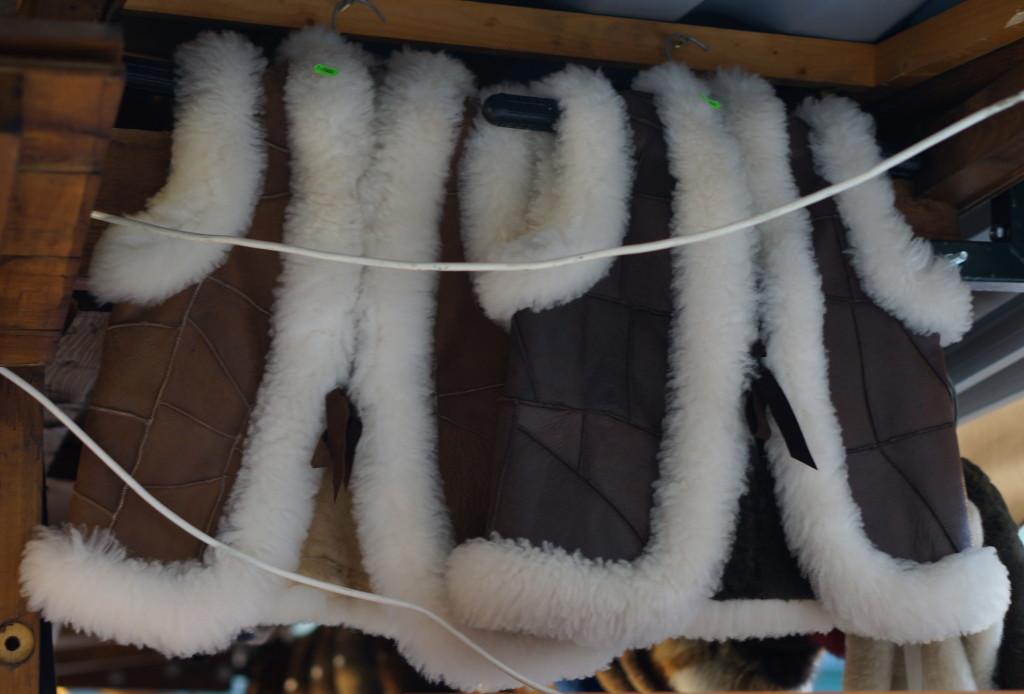 budapest souvenir hungarian  handmade craft christmas market fair fur-lined vests