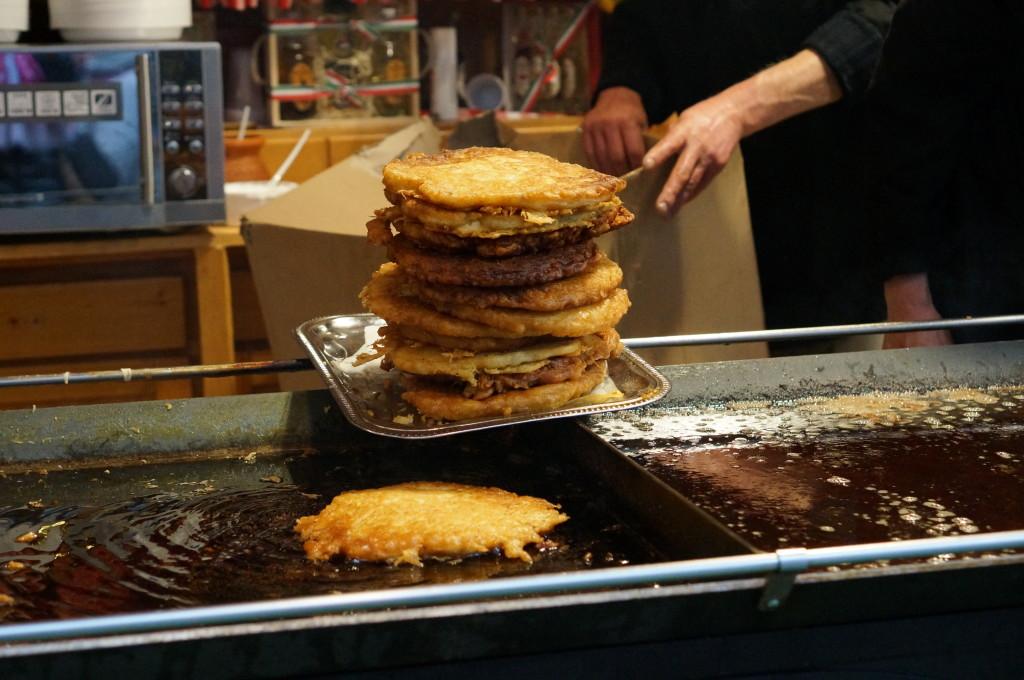 hungarian potato pancakes budapest christmas market fair