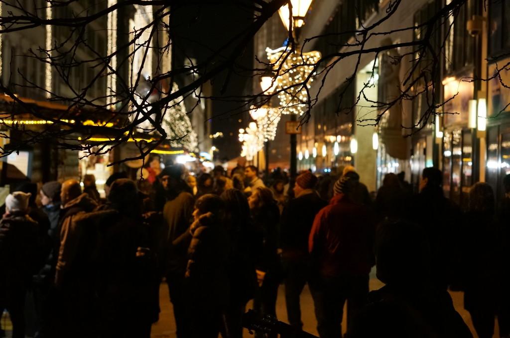 Budapest christmas market fair night