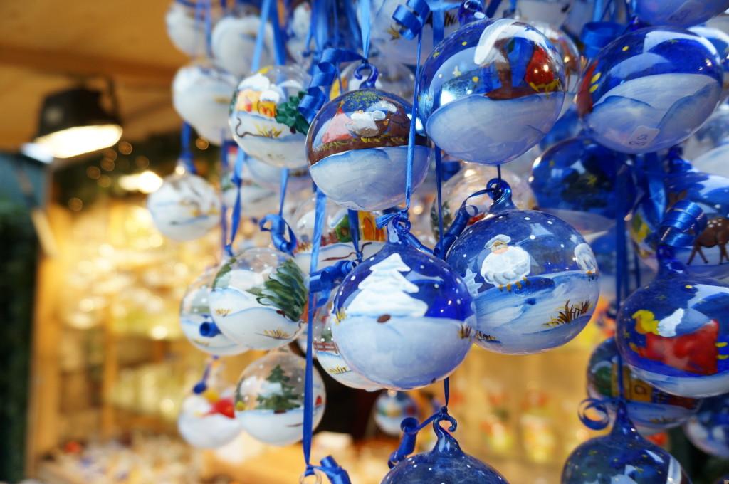 Schonbrunn Palace Christmas Market Vienna glass ornaments