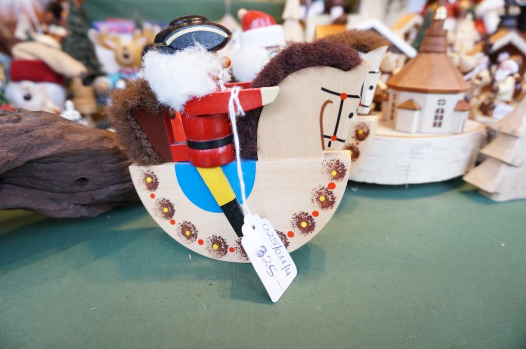 Vienna christmas ornament rocking horse wooden Schonbrunn Palace Christmas Market in Vienna.
