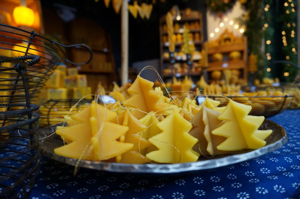 Schonbrunn Palace Christmas Market Vienna handmade beeswax candles