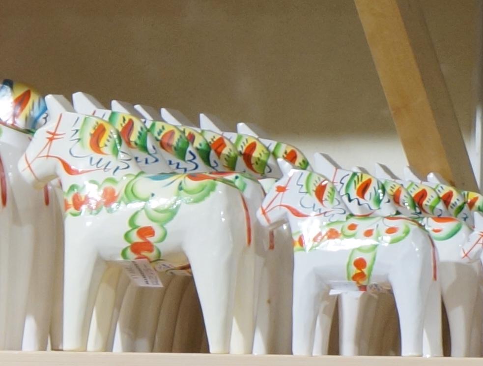 white dala horse sweden