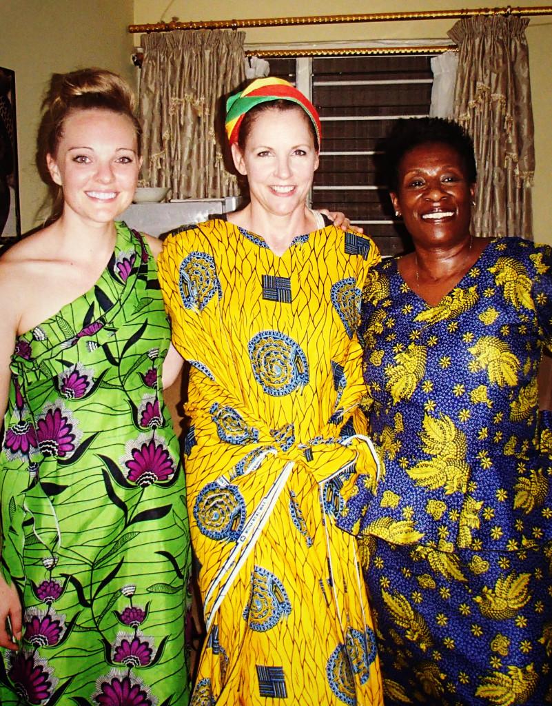 custom dress ghana africa colorful