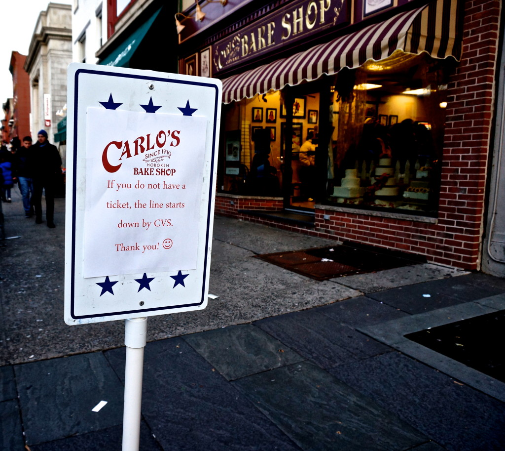 cake boss Carlos Bake shop sign line