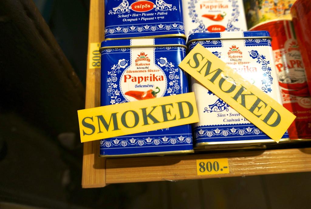 Hungarian smoked paprika from Budapest