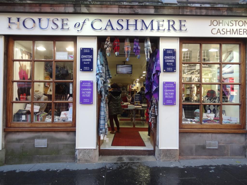 cashmere shop edinburgh royal miles scottland