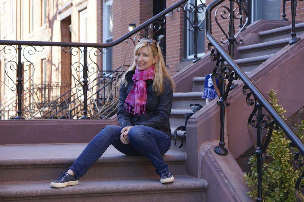 pink plaid cashmere scarf scotland edinburgh royal mile
