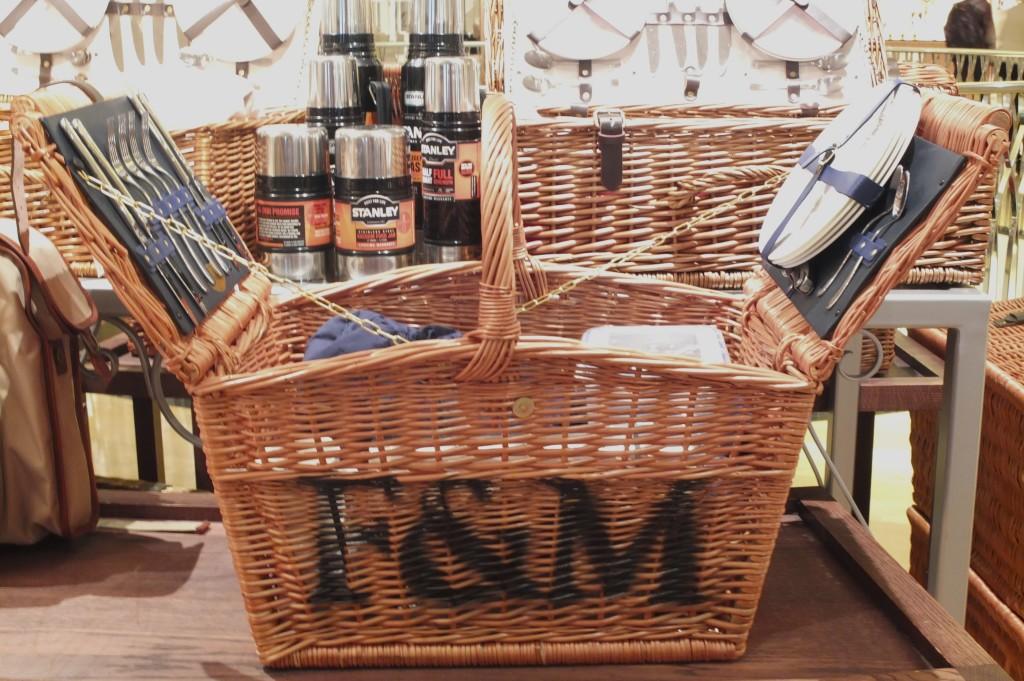 fortnum luxury picnic hamper lid english london uk