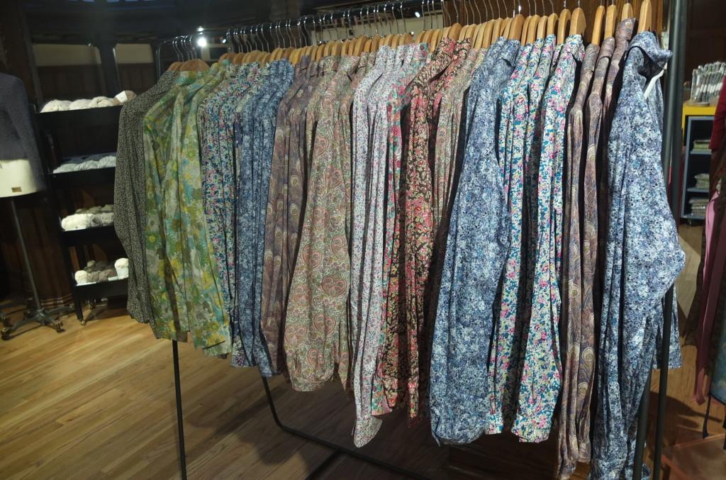 Liberty London women's shirts in store Liberty art fabric prints