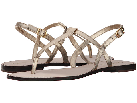 Gold and silver flat sandals like these reasonably priced ones from