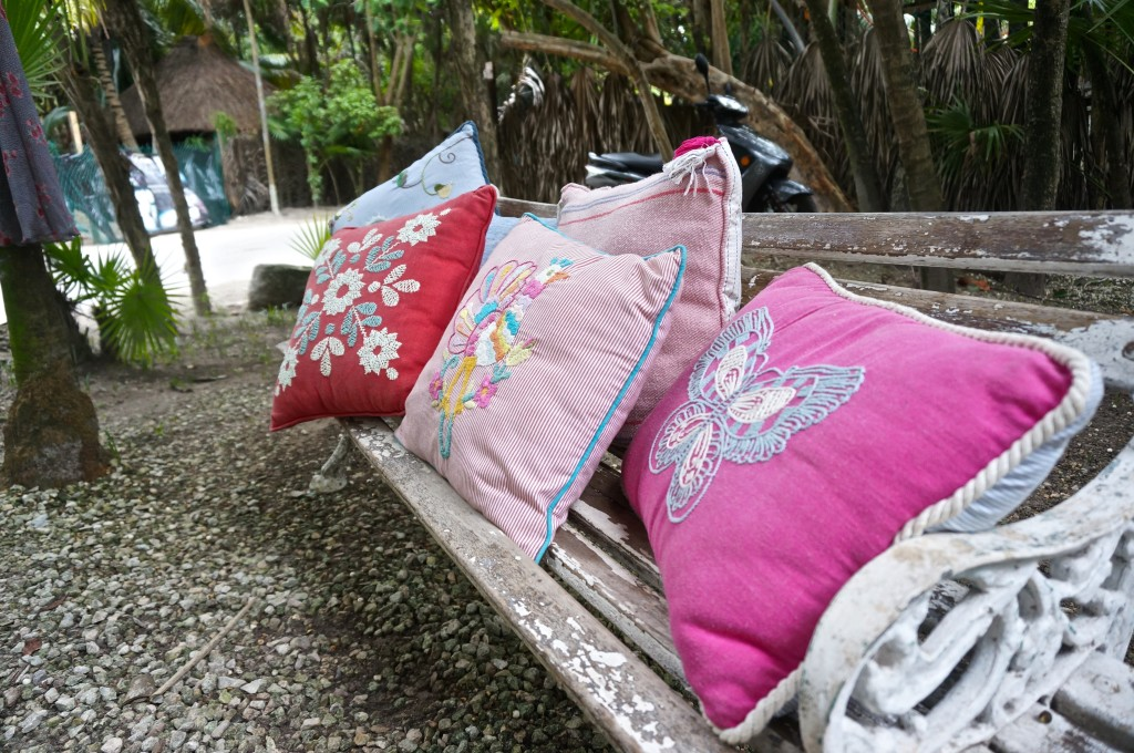 embroidered pillows mexico tulum best shopping top souvenir