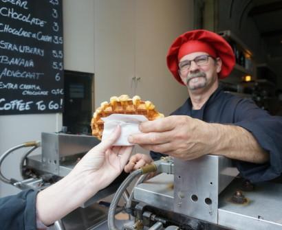 Belgian waffles brussels vendor ghent