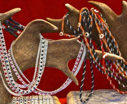 Stockholm Sweden Christmas Market Kungstradgården jewelry necklace reindeer