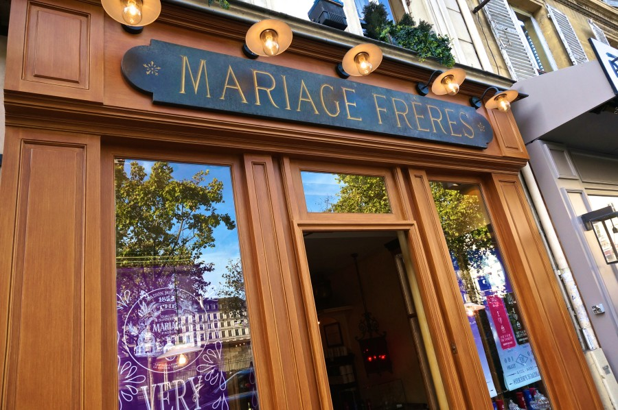 The Mariage Frere Shopfront, conveniently located at Place de La Madeleine in Paris