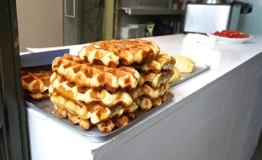 Belgian waffles Ghent Belgium Gaufre sugar liege