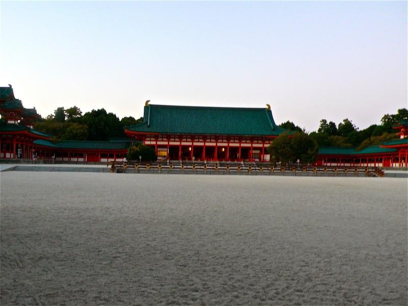 heinan temple dusk kyoto japan