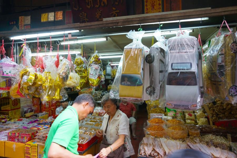 Chinese market Bangkok good luck items vendors
