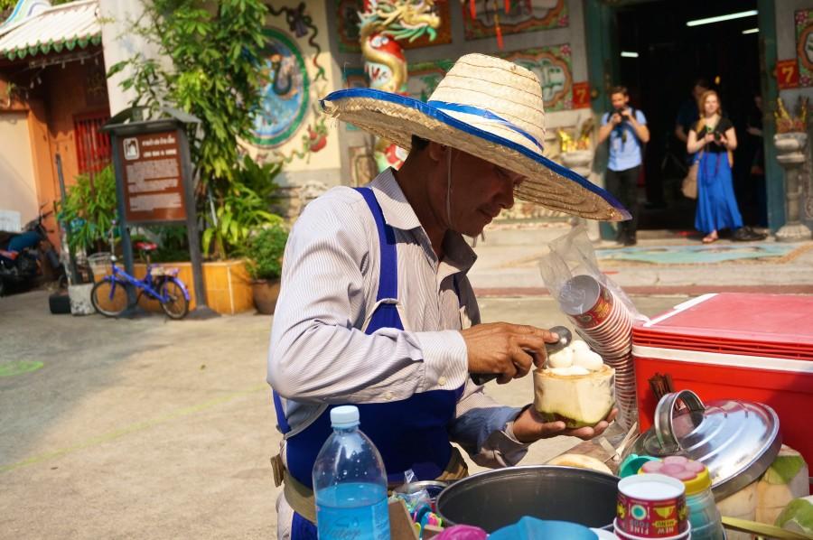 chinatown coconut ice cream vendor