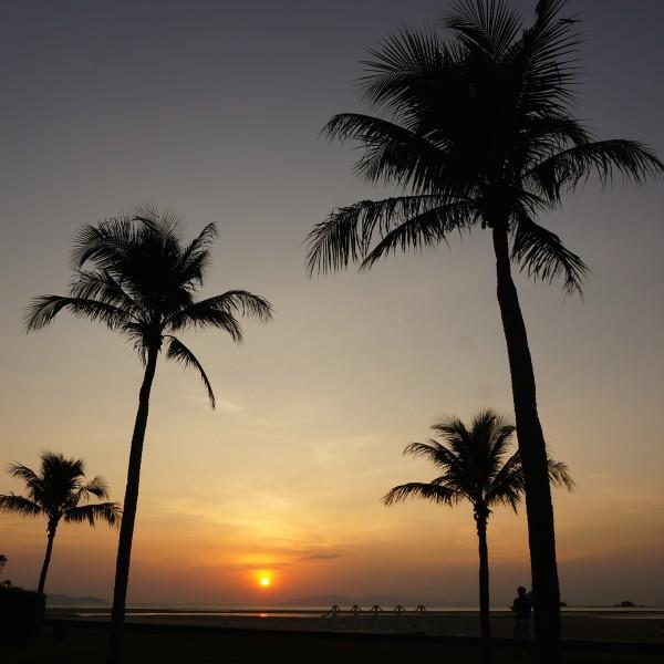 Anantara resort in Koh Samui. trang thailand sunset