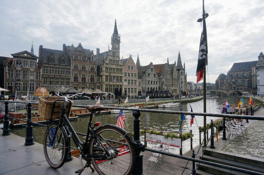 gent canal gothic architecture