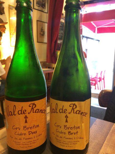 Local cider in Brittany.