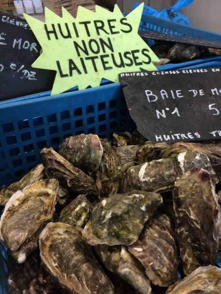 Don't miss the famous oysters from Brittany.