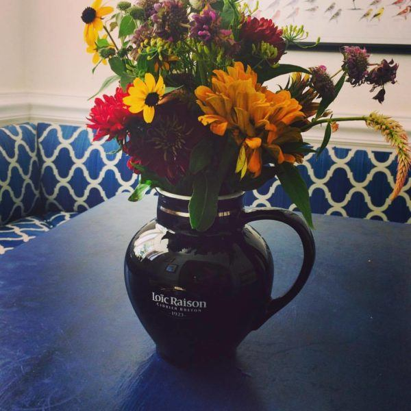 The Brittany cider pitcher is treasured back at Leigh's home.