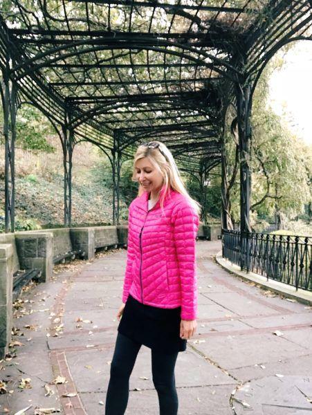 cute pink puffer jacket 2018 warm soft packable travel slender flattering