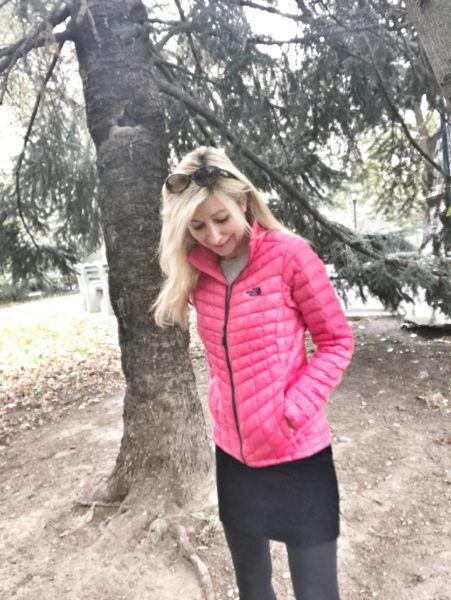 womens cutest thin slimmest pink puffer coat jacket winter travel packable soft lightweight warm comfy