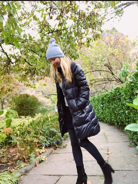 women's best slim puffy parka winter travel warmest cutest most stylish black north face