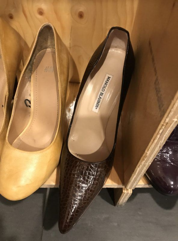 manolo blahniks french paris thrift store goodwill france clothing