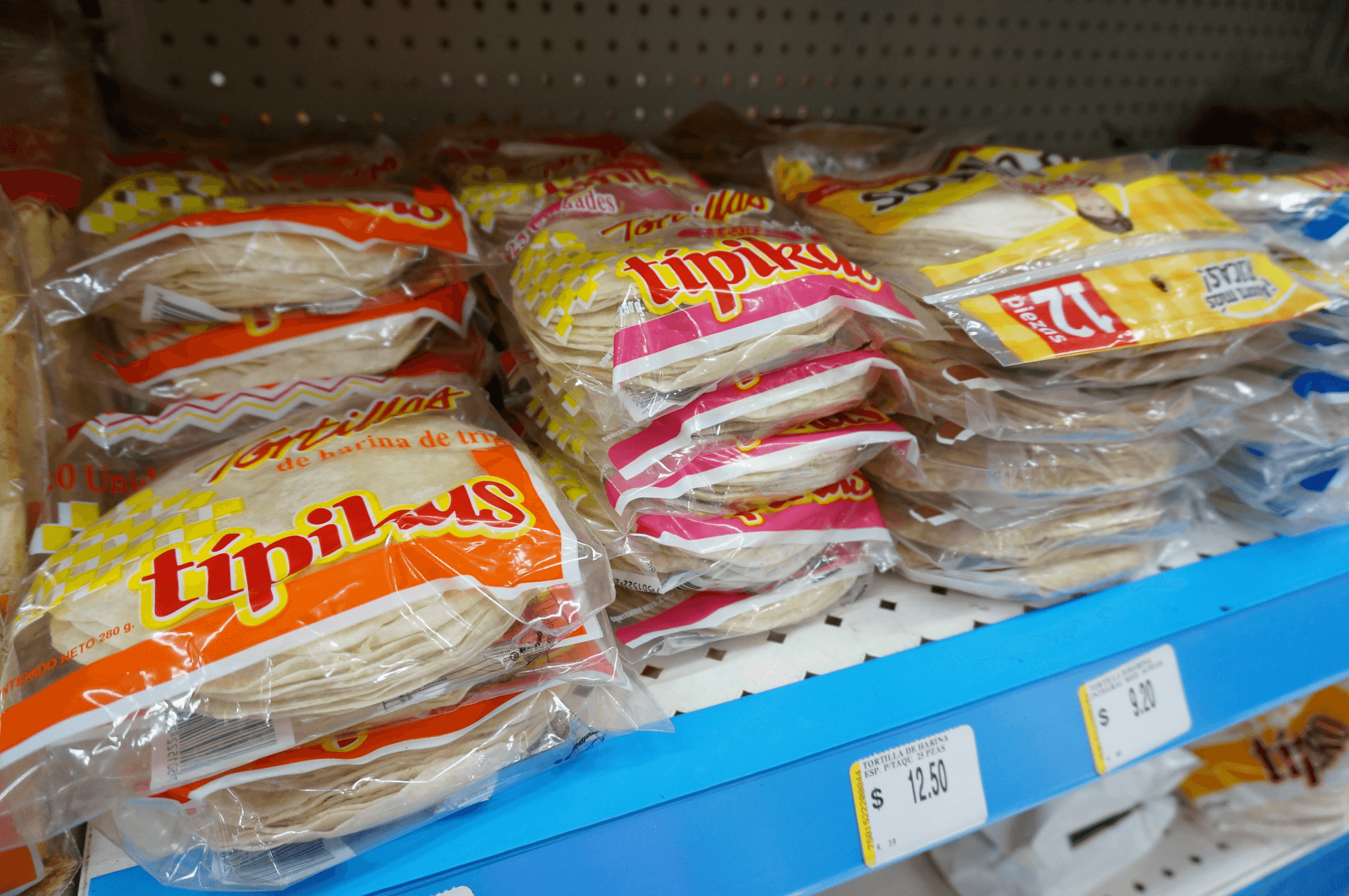 cheap Mexican supermarket souvenirs, what to buy at a supermarket in Mexico tortillas