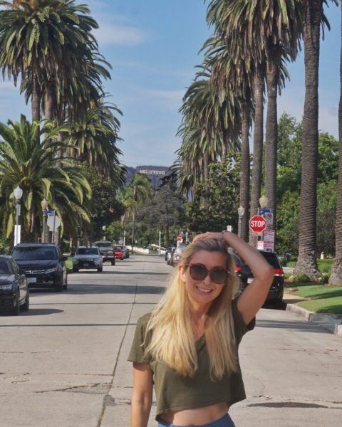 Los Angeles instagram street palm trees Hollywood Sign photos