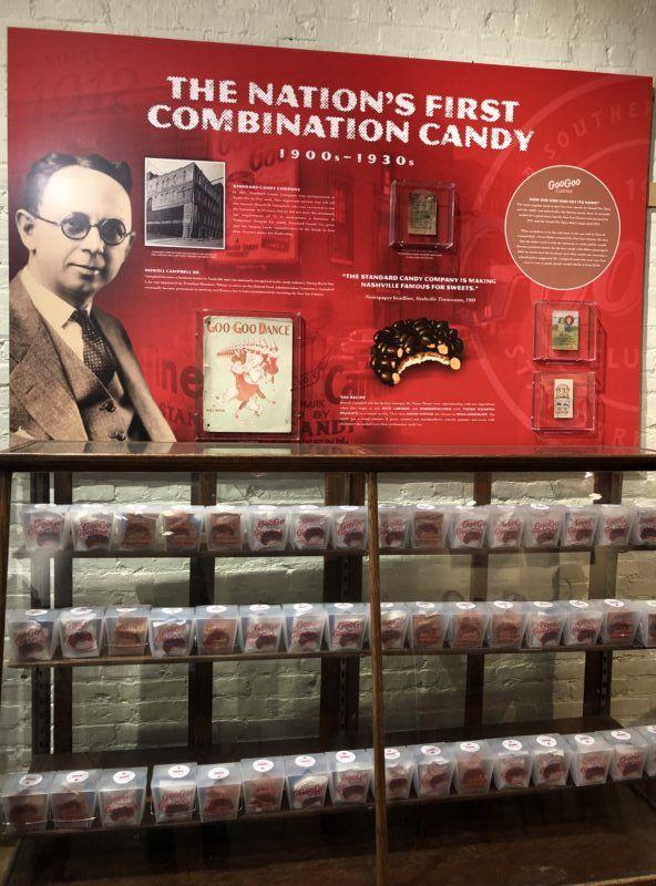 goo goo cluster nashville store history combination candy