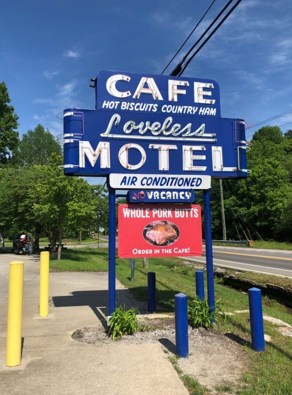 loveless cafe and motel sign hot biscuits photo nashville