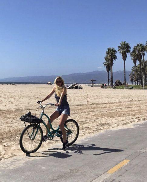 biking venice beach casa del mar