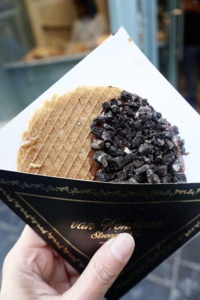 Van Wonderen Stroopwafel, one of the best souvenirs to bring home from Amsterdam.