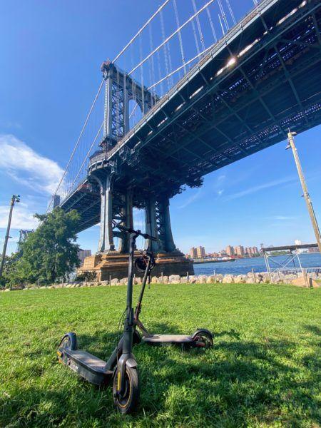 where to ride electric scooters brooklyn the manhattan bridge bike path